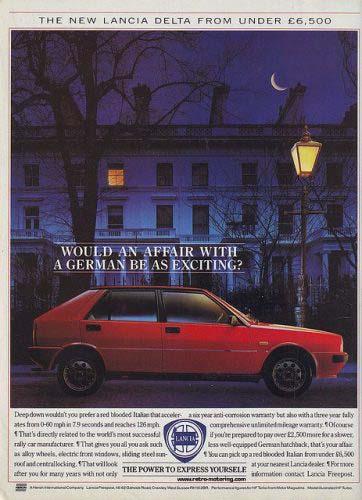 Διαφημιστική καταχώρηση της Lancia Delta
