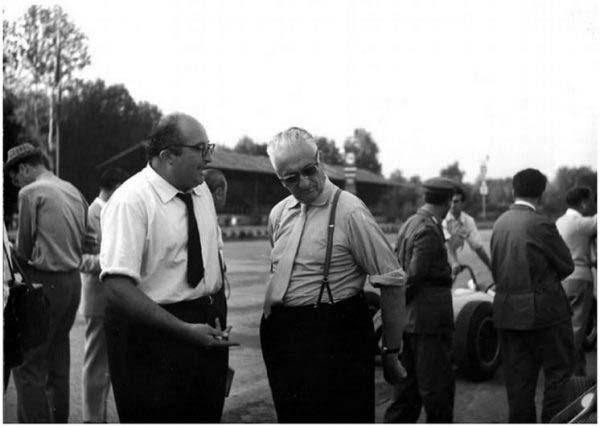 Carlo Chiti και Enzo Ferrari
