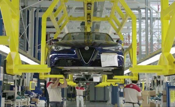 Η γραμμή παραγωγής της Giulia στο Cassino