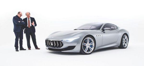 Marco Tencone και Lorenzo Ramaciotti δίπλα στη Maserati Alfieri concept. Πηγή φωτογραφίας maserati.com