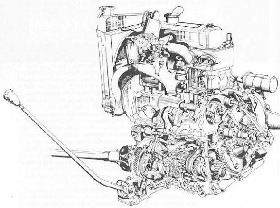 Morris Mini: A-Series, με τετρατάχυτο κιβώτιο