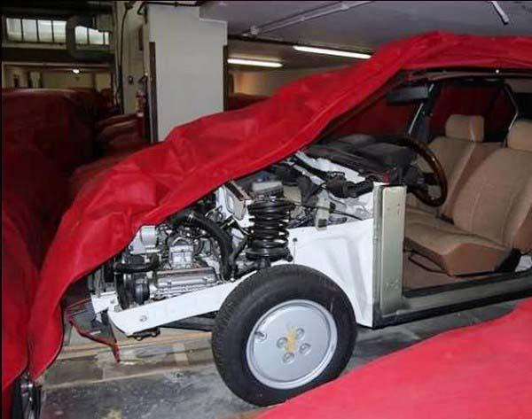 Κομμένο σασί απο πρόταση για αντικατάσταση της Alfetta με προσθιοκίνητο Boxer